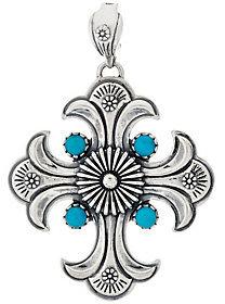 American WestAs Is Sterling Silver Turquoise Cross Enhancer by American West