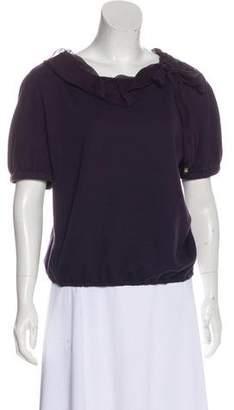 Louis Vuitton Wool Short Sleeve Top