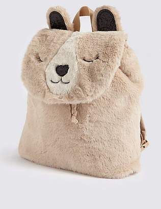 Marks and Spencer Kids' Polar Bear Faux Fur Backpack