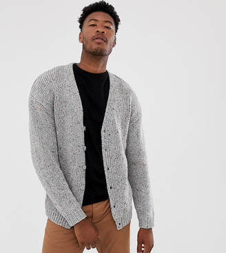 Asos DESIGN Tall heavyweight cardigan in gray