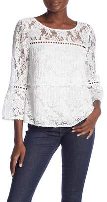 Laundry by Shelli Segal Pleated Lace Top
