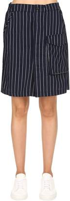 Tendric High Waist Flannel A-Line Skirt