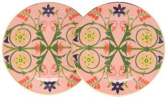 Alpina LA DOUBLEJ EDITIONS Stella floral two-piece dessert plate set