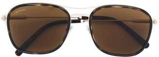 Bulgari tortoiseshell squared sunglasses