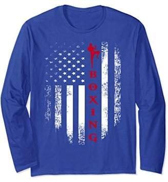 Vintage USA Red White - American Flag Boxing Long Sleeve