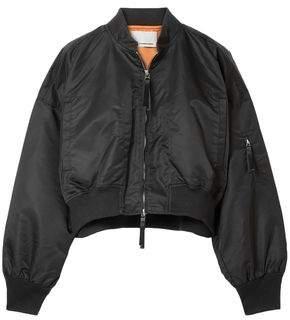 Alexander Wang Cropped Shell Bomber Jacket