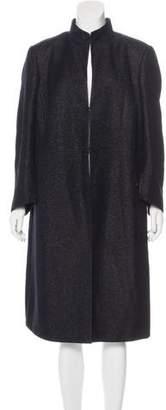 Akris Long Wool-Blend Coat