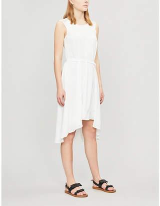 Claudie Pierlot Rhea cutout-back crepe flared dress