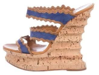 Alexa Wagner Suede Wedge Platform Sandals
