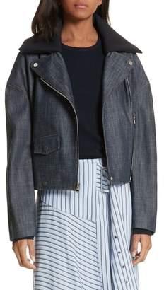 Tibi Denim Moto Jacket