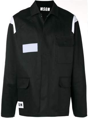 MSGM contrast-panel overshirt