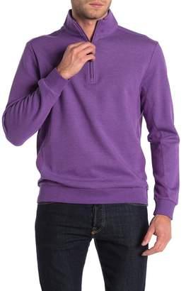 Bugatchi Quarter Zip Knit Thermal Pullover