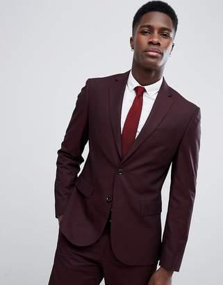 Man Suit Jacket In Burgundy