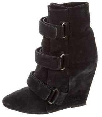 Isabel Marant Suede Wedge Booties