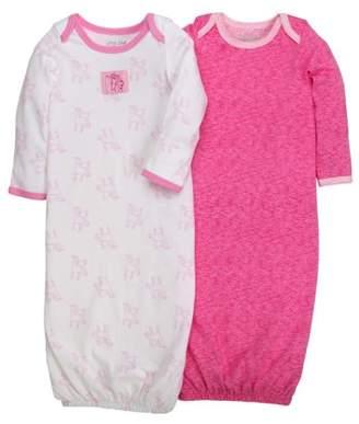 Little Star Organic Newborn Baby Girl Gown, 2-pack
