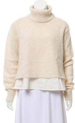 Tibi Rib Knit Turtleneck Sweater