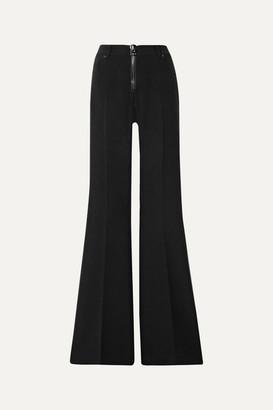 Tom Ford Wool-blend Cady Flared Pants - Black