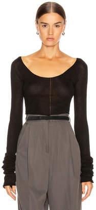 Lemaire Bare Shoulder Second Skin Top in Black | FWRD