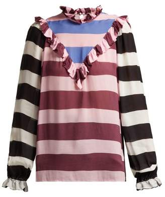 Preen Line Leica Ruffle Trimmed Striped Top - Womens - Multi
