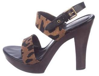 edbe6ffc460 Saint Laurent Wooden Heel Women's Sandals - ShopStyle