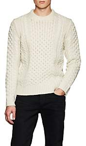 Rag & Bone Men's Trevor Aran Chunky Cable-Knit Wool-Blend Sweater - Ivorybone