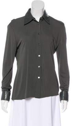 Hermes Button-Up Long Sleeve Top