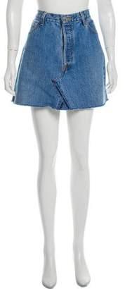 RE/DONE Denim Mini Skirt w/ Tags