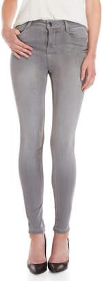 Maje Grey High-Waisted Skinny Jeans