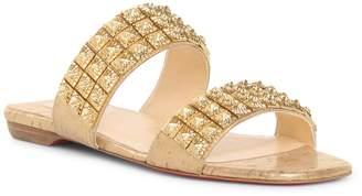 3c76129e3 Christian Louboutin Myradiam flat liege pepite gold flat sandals