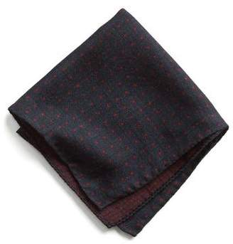 Todd Snyder Italian Wool Pocket Square in Red Dot