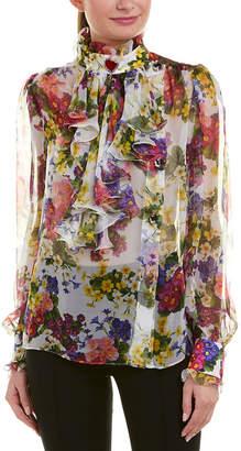 Dolce & Gabbana Ruffle Silk Blouse