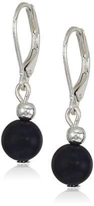 Chaps Women's Round Double Drop Bead Earrings