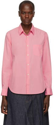 Comme des Garcons Pink Cotton Poplin Shirt