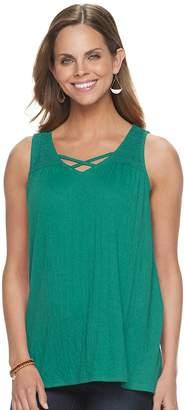 Sonoma Goods For Life Women's SONOMA Goods For Life Lace Yoke Sleeveless Top