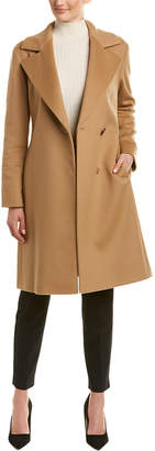 Cinzia Rocca Wool & Cashmere-Blend Wrap Coat