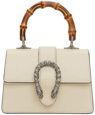 Gucci White Mini Dionysus Top Handle Bag