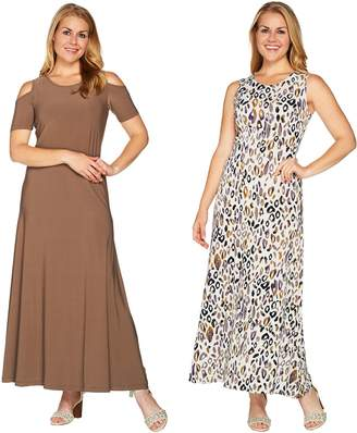 Women With Control Attitudes by Renee Petite Solid & Printed Set of 2 Dresses