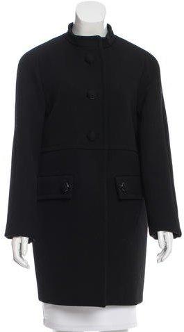 pradaPrada Wool Knee-Length Coat
