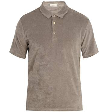 Altea Terry-towelling cotton-blend polo shirt