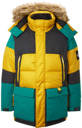 The North Face Vostok Faux Fur-Trimmed Padded Ripstop Hooded Down Parka