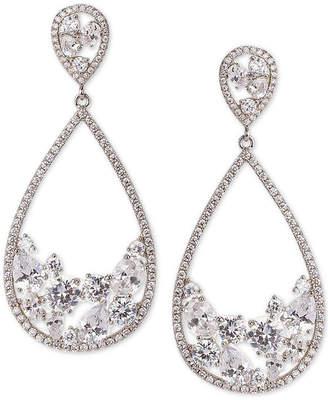 Nina Silver-Tone Crystal Drop Earrings