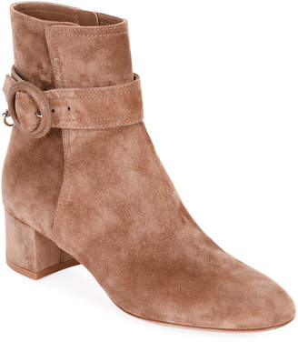 7b5b79e616d2 Gianvito Rossi Suede Buckle 45mm Booties