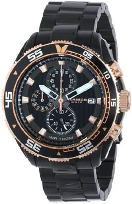 Akribos XXIV Men's AK646BK Grandiose Chronograph Dial Stainless Steel Bracelet Watch