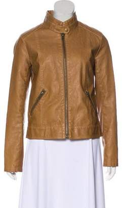 BB Dakota Faux Leather Long Sleeve Jacket