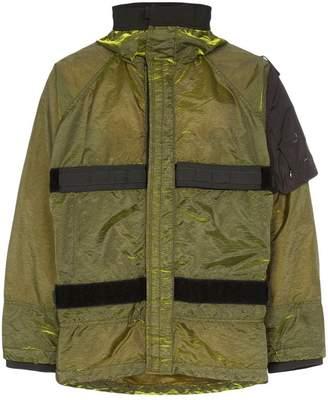 Nemen velcro strap hooded jacket