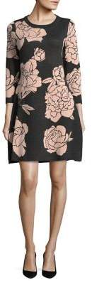 Calvin Klein Floral Sweater Dress