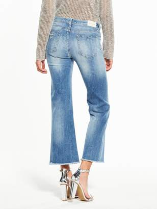 Replay Carlida Cropped Flare Jean - Light Wash