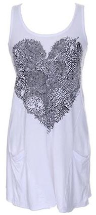 Lauren Moshi Lace Heart Sleeveless Pocket Dress -SALE
