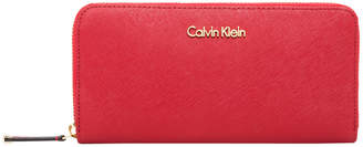 Calvin Klein H2GQ1832 BRED Saffiano Zip Around Wallet