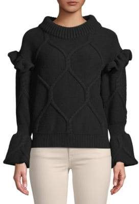 Burberry Ruffle-Trimmed Top